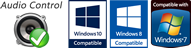 Audio Control Windows Compatibility Seals