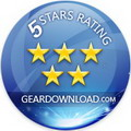 5 stars award by geardownload.com