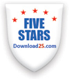 5 stars award by Download 25.