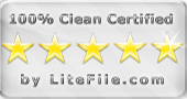 100% Clean award by litefile.com