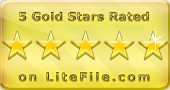5 stars award by litefile.com