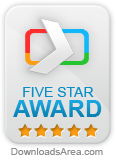5 stars award by DownloadsArea.com