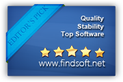 5 stars award by findsoft.net