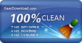 100% Clean award by geardownload.com